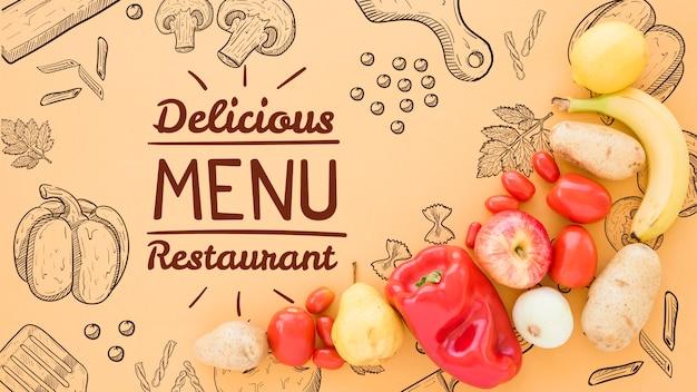 Sfondo menu delizioso con spazio di copia Psd Gratuite