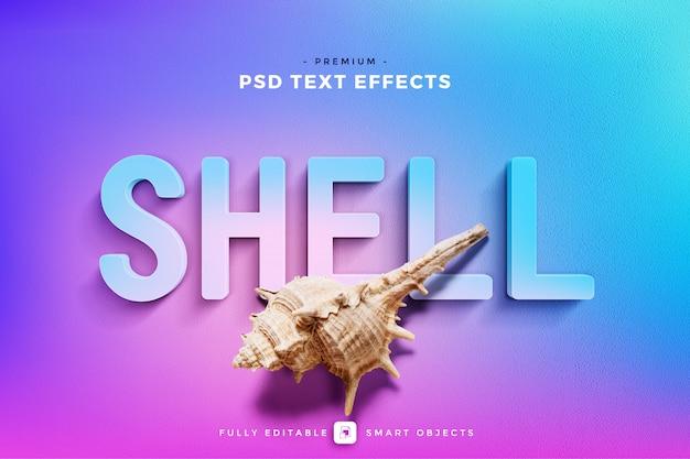 Shell teksteffectmodel Premium Psd