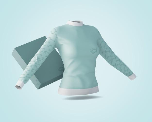 Shirt en doosmodel Gratis Psd