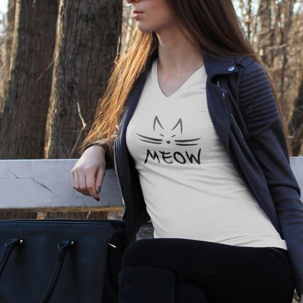 Shirt mock up design Gratis Psd
