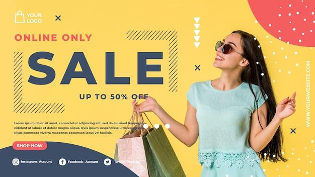 Shopping online con sconto Psd Gratuite