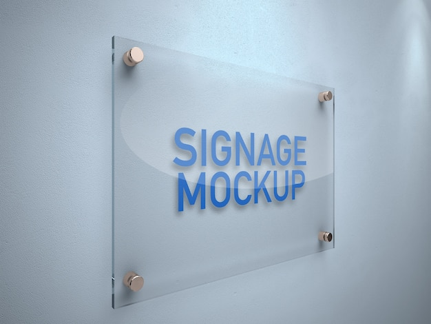 Signage-board-mockup PSD Premium