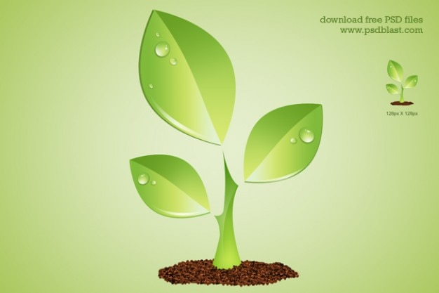 Simbolo verde ambiente impianto psd Psd Gratuite