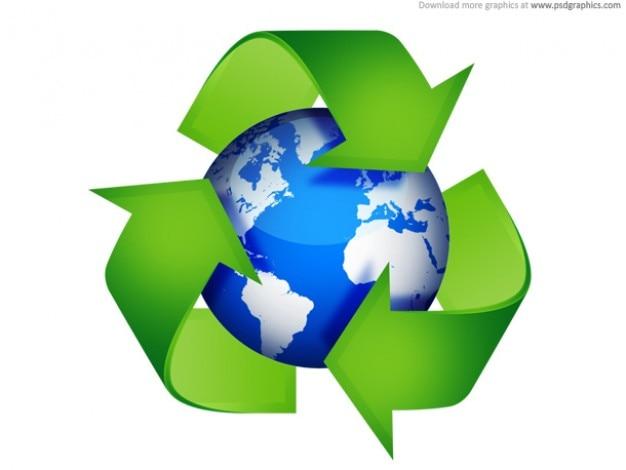 Símbolos verdes de reciclaje Psd Gratis