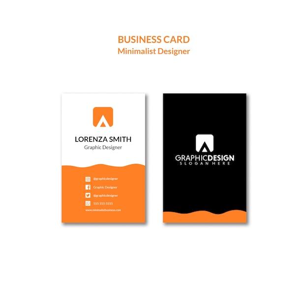 Simplistisch concept van een identiteitsadreskaartje Gratis Psd