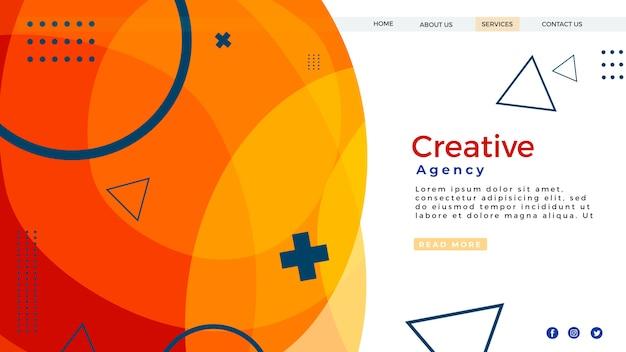 Sitio web de la página de destino PSD gratuito