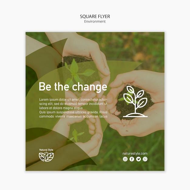 Sjabloon folder met milieu concept Gratis Psd