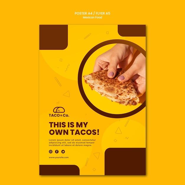 Sjabloon folder voor mexicaans eten restaurant Gratis Psd