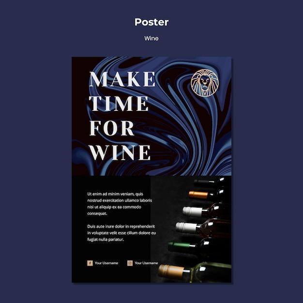 Sjabloon folder voor wijn bedrijf Gratis Psd