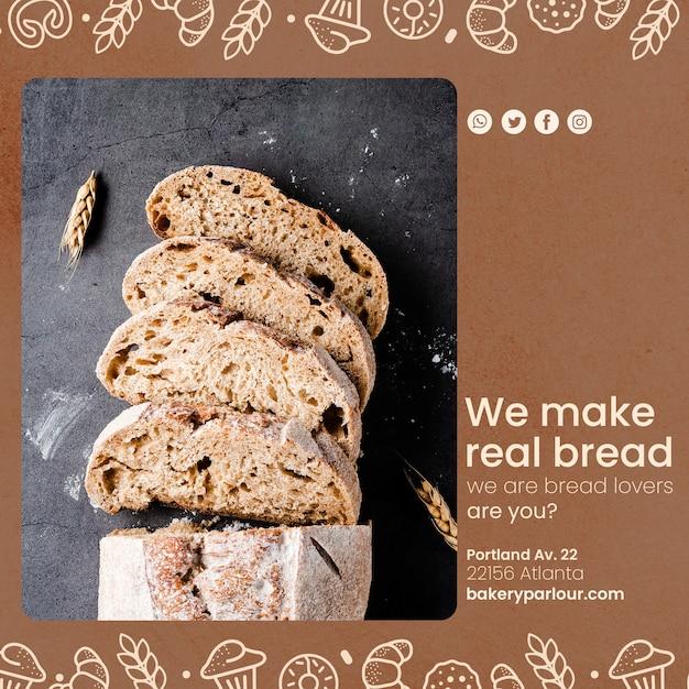 Sjabloon voor bakkerijproducten promotie Gratis Psd