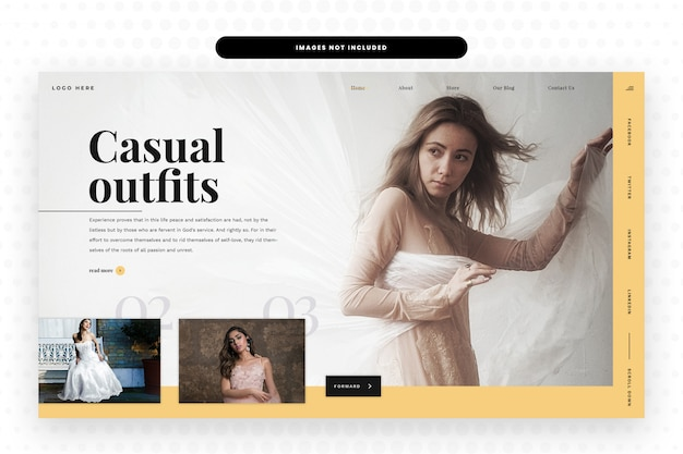 Sjabloon voor casual outfits-websites Premium Psd
