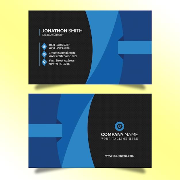 Sjabloon voor creatieve visitekaartjes Premium Psd