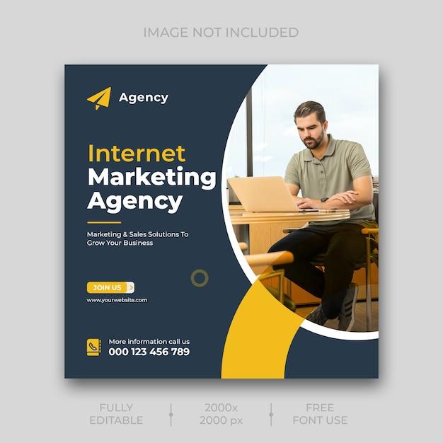 Sjabloon voor digitale marketing sociale media-sjabloon Gratis Psd