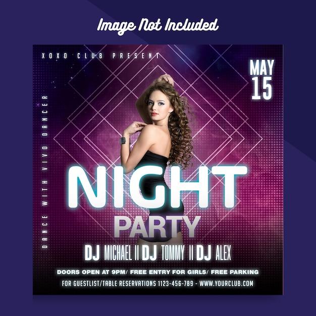 Sjabloon voor flyers van de nachtclub Premium Psd