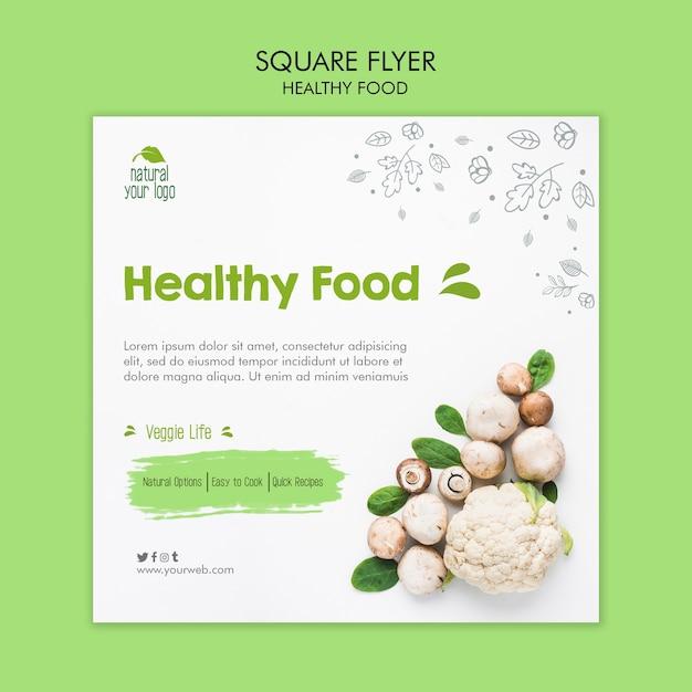 Sjabloon voor gezonde voeding-flyer Gratis Psd