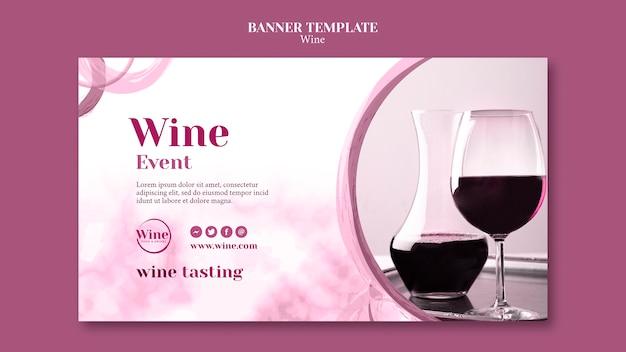 Sjabloon voor horizontale spandoek voor wijnproeverijen Gratis Psd