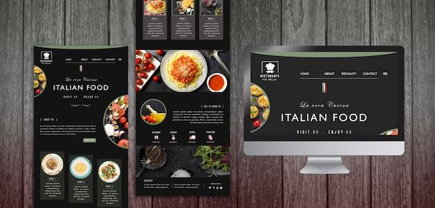 Sjabloon voor italiaans eten briefpapier Gratis Psd