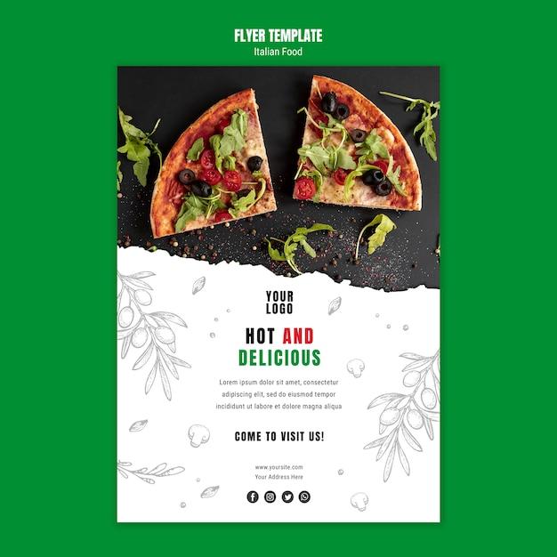 Sjabloon voor italiaans eten flyer Gratis Psd