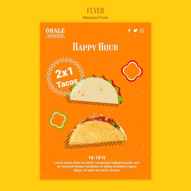 Sjabloon voor mexicaans eten flyer Gratis Psd