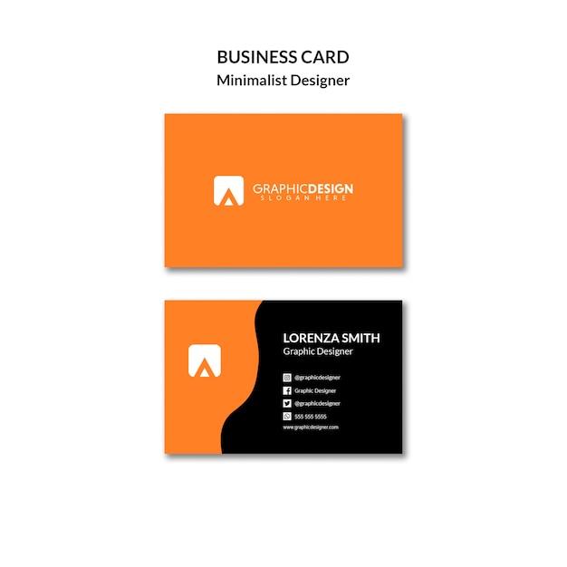 Sjabloon voor minimalistische designer visitekaartjes Gratis Psd