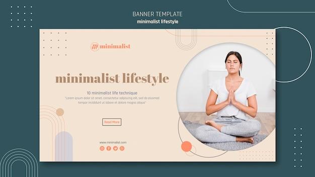 Sjabloon voor minimalistische levensstijl-spandoek Gratis Psd