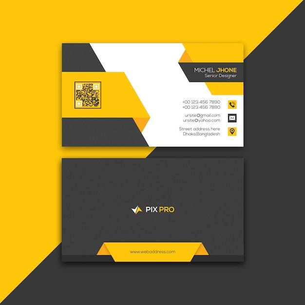 Sjabloon voor persoonlijke visitekaartjes Premium Psd