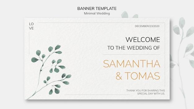 Sjabloon voor spandoek bruiloft uitnodiging Gratis Psd