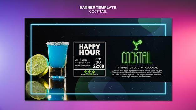Sjabloon voor spandoek cocktail concept Gratis Psd
