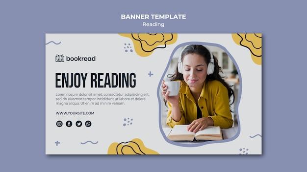 Sjabloon voor spandoek concept lezen Gratis Psd