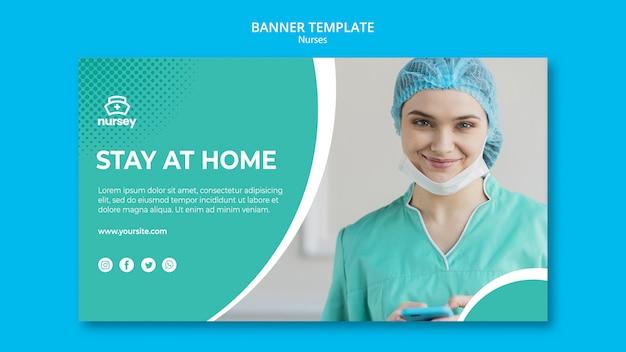Sjabloon voor spandoek gezondheidszorg concept Gratis Psd