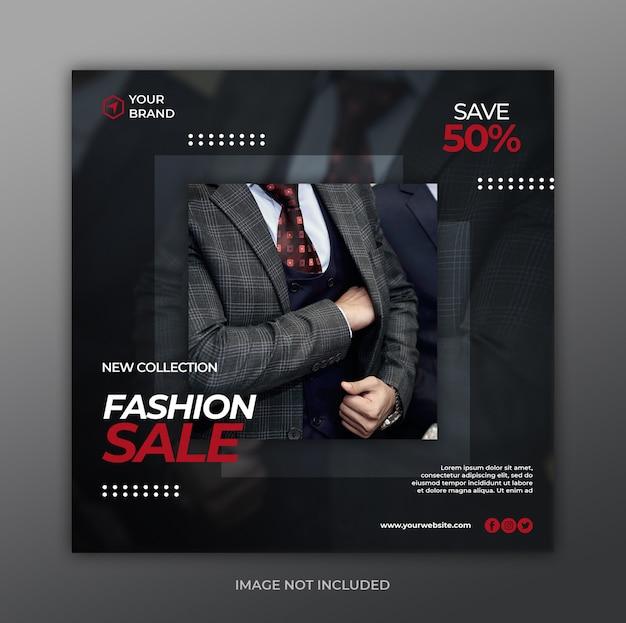 Sjabloon voor spandoek mode verkoop Premium Psd