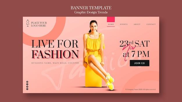 Sjabloon voor spandoek mode winkel Gratis Psd