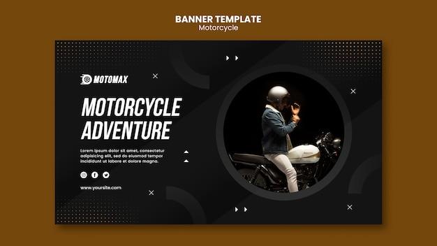 Sjabloon voor spandoek motorfiets avontuur Gratis Psd