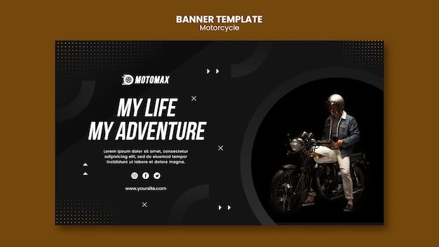 Sjabloon voor spandoek motorfiets concept Gratis Psd
