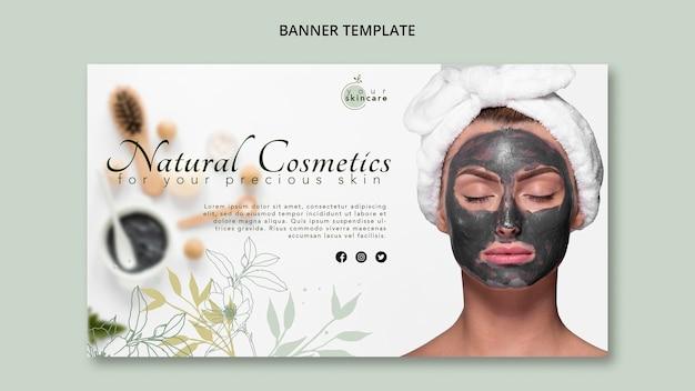 Sjabloon voor spandoek natuurlijke cosmetica Gratis Psd