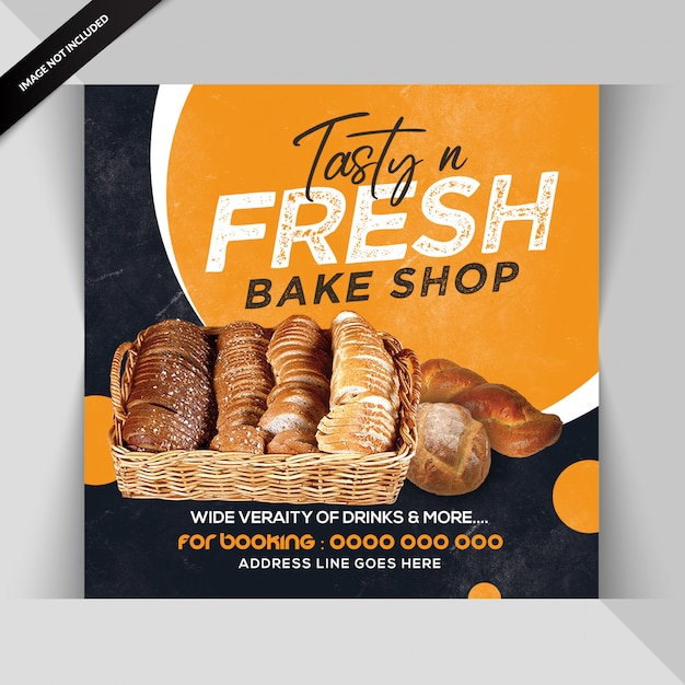 Sjabloon voor spandoek of folder voor restaurant Premium Psd