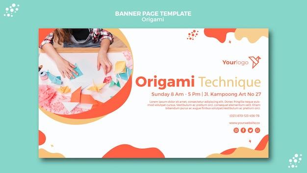 Sjabloon voor spandoek origami Gratis Psd