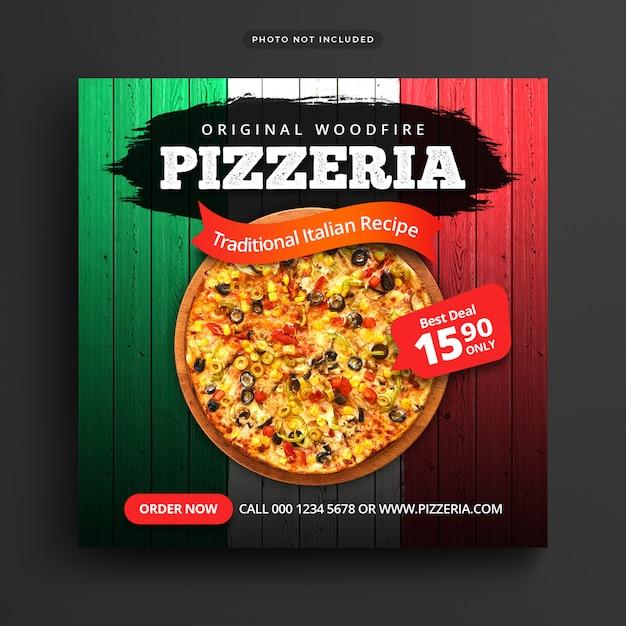 Sjabloon voor spandoek restaurant Premium Psd