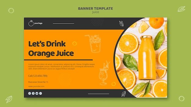 Sjabloon voor spandoek sinaasappelsap Gratis Psd