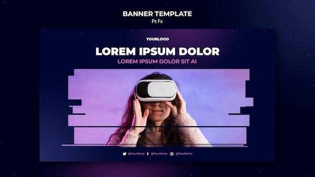 Sjabloon voor spandoek van virtuele realiteit Gratis Psd