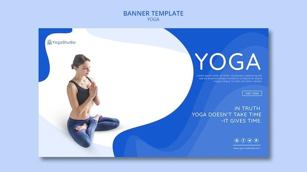 Sjabloon voor spandoek voor yoga fitness Gratis Psd