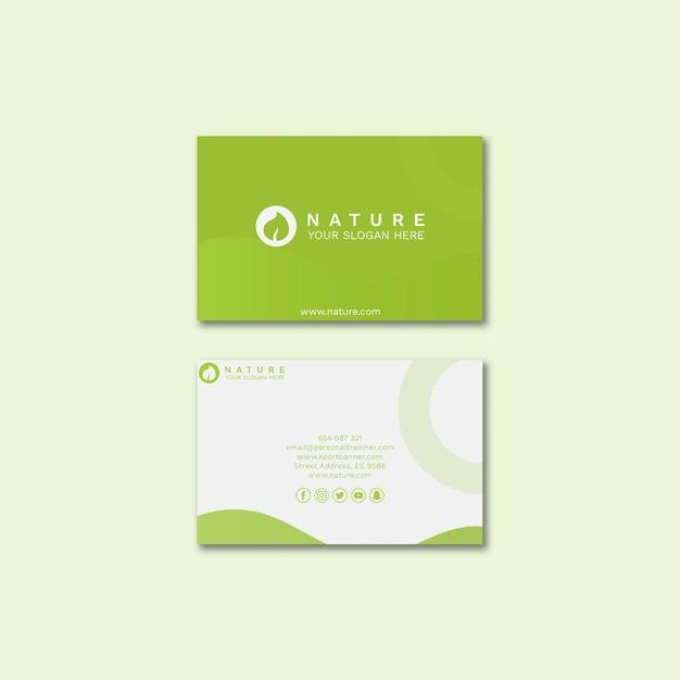 Sjabloon voor visitekaartjes met schoonheid concept Gratis Psd