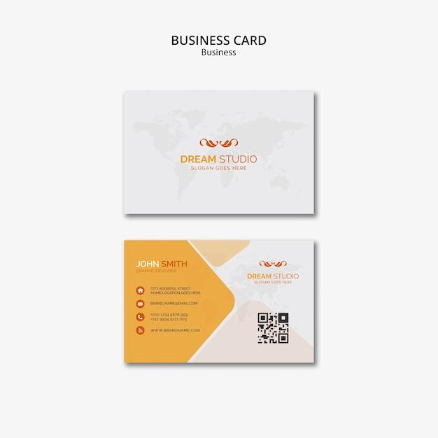 Sjabloon voor visitekaartjes Premium Psd