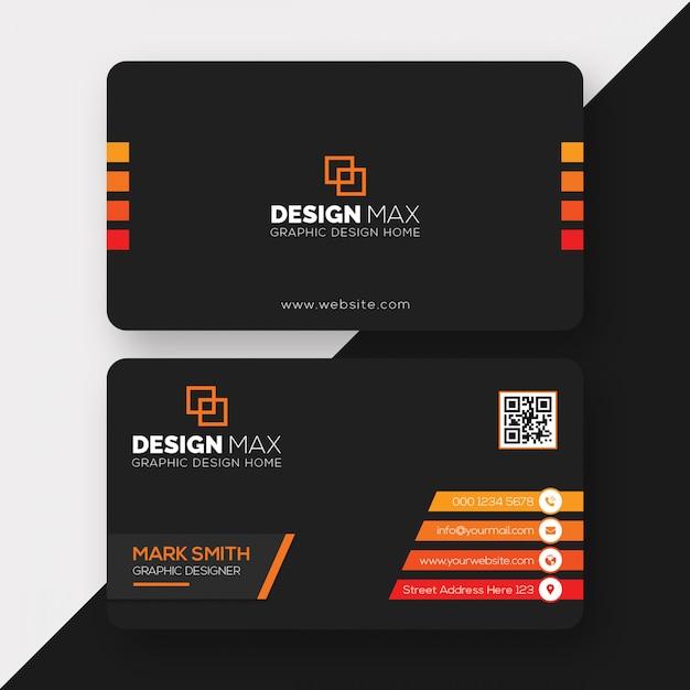 Sjabloon voor zakelijk visitekaartjes Premium Psd