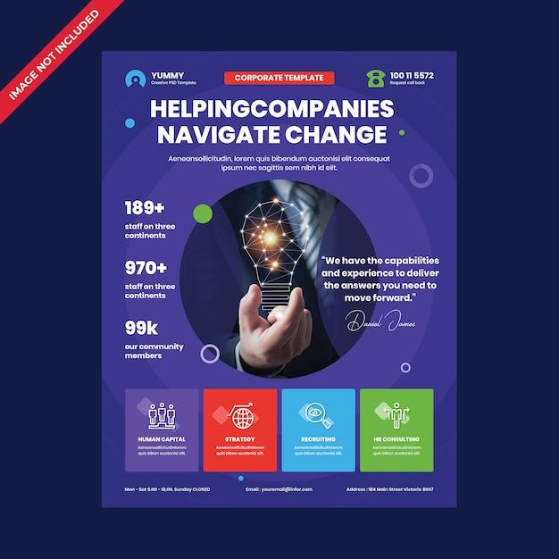 Sjabloon voor zakelijke corporate folders Premium Psd
