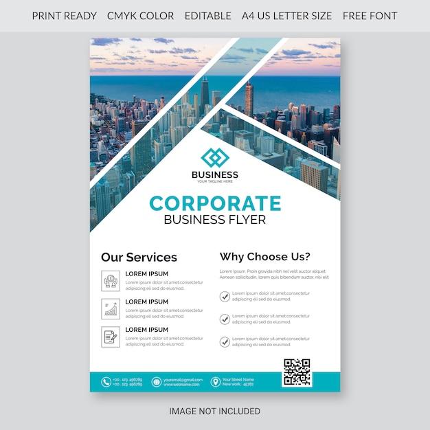 Sjabloon voor zakelijke flyer Premium Psd