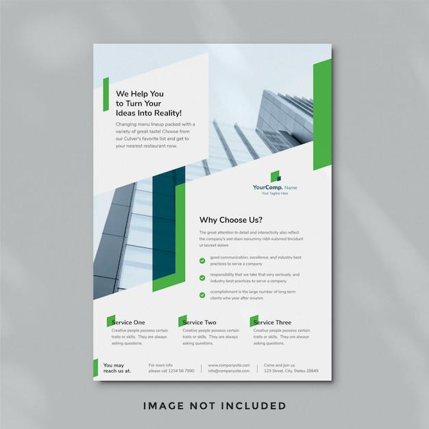 Sjabloon voor zakelijke folders 17 Premium Psd