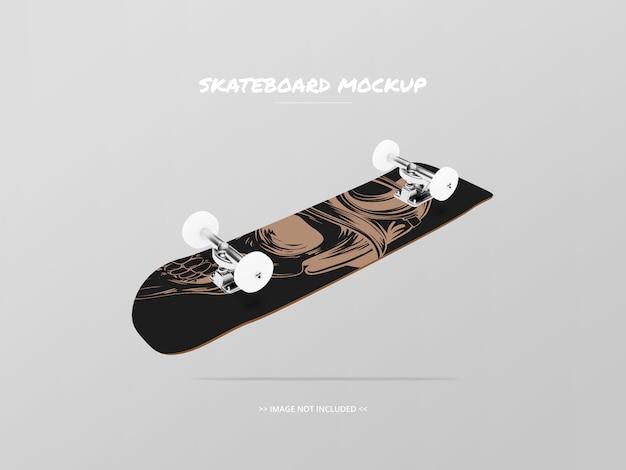 Skateboard mockup bottom side - drijvend Premium Psd