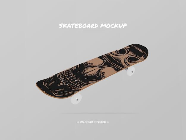 Skateboard mockup top side - floating 2 Premium Psd