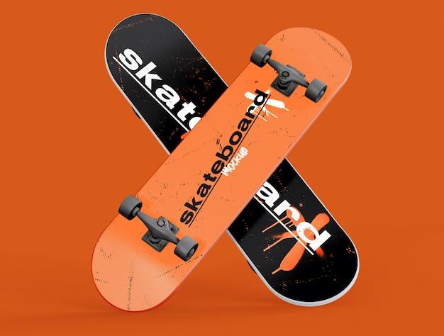 Skateboard mockup Premium Psd